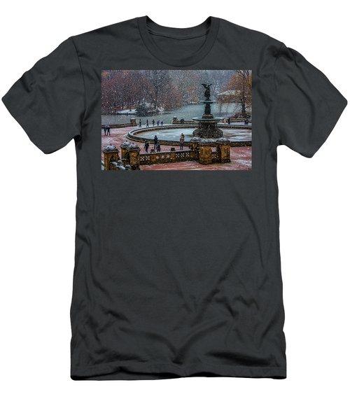 Central Park Snow Storm Men's T-Shirt (Athletic Fit)