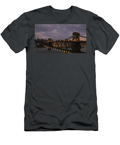 Chain Bridge Dawn Men's T-Shirt (Athletic Fit)