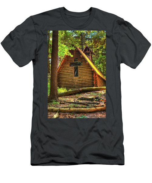 Chapel In The Pines Men's T-Shirt (Athletic Fit)
