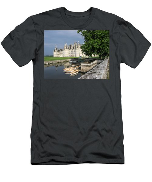 Chateau Chambord Boating Men's T-Shirt (Slim Fit) by HEVi FineArt