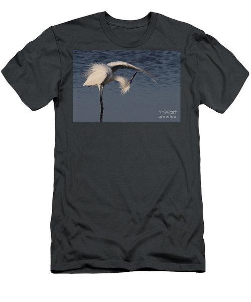Checking For Leaks - Reddish Egret - White Form Men's T-Shirt (Athletic Fit)
