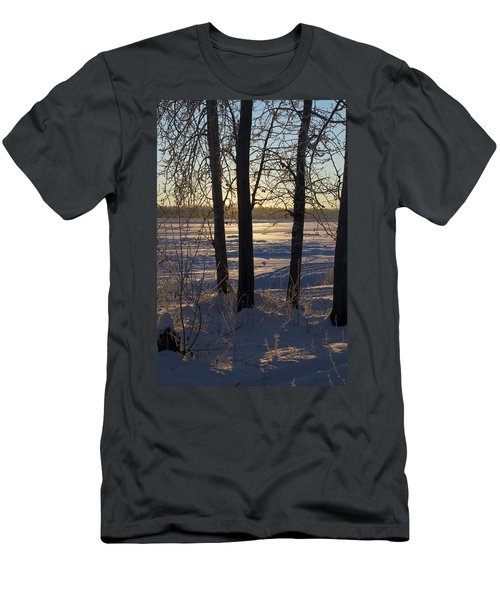 Chena River Trees Men's T-Shirt (Slim Fit) by Cathy Mahnke