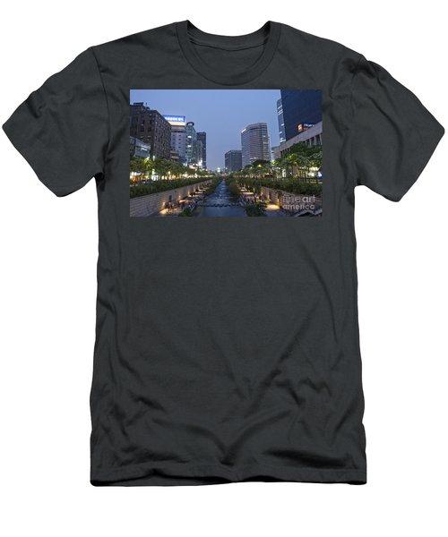 Cheonggyecheon Stream In Seoul South Korea Men's T-Shirt (Athletic Fit)