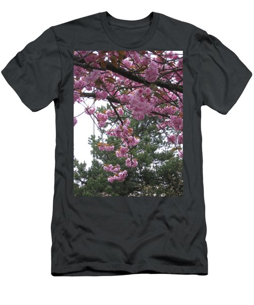Cherry Blossoms 1 Men's T-Shirt (Slim Fit) by David Trotter