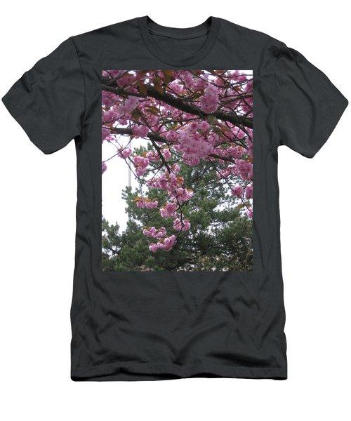 Cherry Blossoms 1 Men's T-Shirt (Athletic Fit)