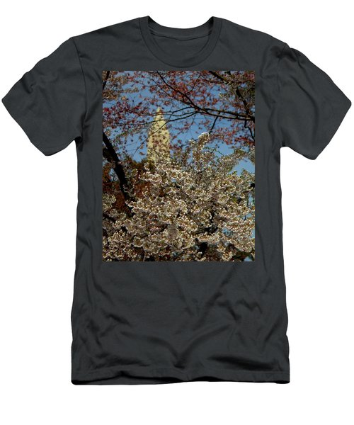 Cherry Blossoms And The Monument Men's T-Shirt (Athletic Fit)