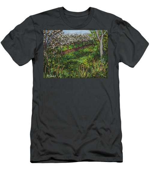 Cherry Orchard Evening Men's T-Shirt (Athletic Fit)