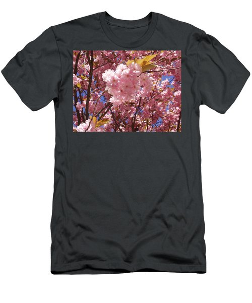 Cherry Trees Blossom Men's T-Shirt (Athletic Fit)