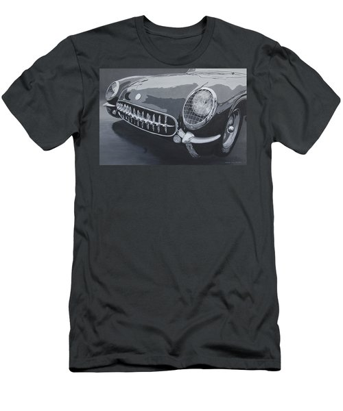 Chevrolet Corvette 1954 Men's T-Shirt (Slim Fit) by Anna Ruzsan