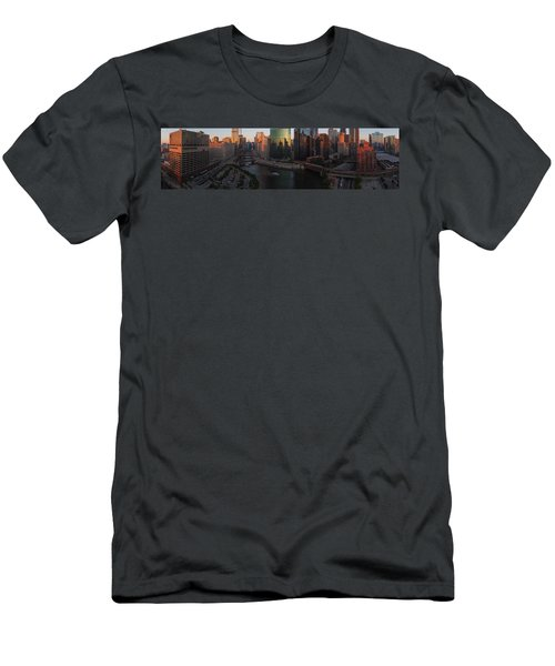 Chicago On The River Men's T-Shirt (Athletic Fit)
