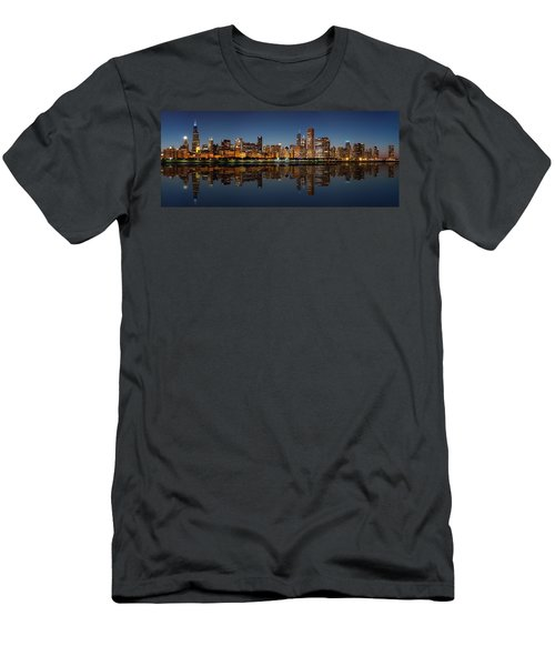 Chicago Reflected Men's T-Shirt (Athletic Fit)