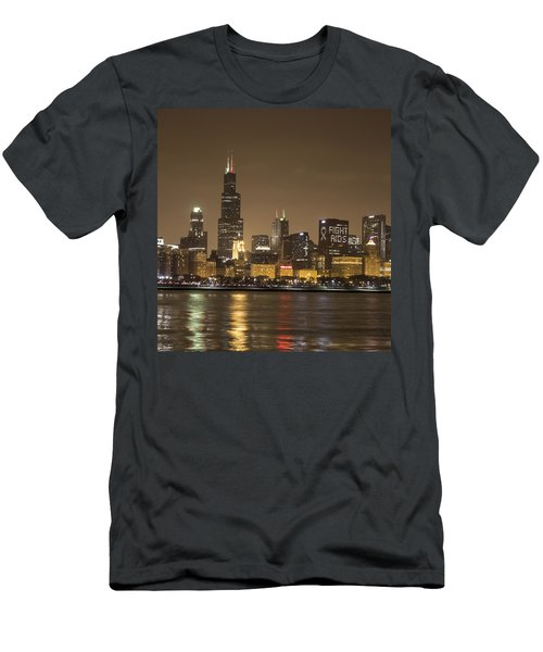 Chicago Skyline - World Aids Day 12/1/12 Men's T-Shirt (Athletic Fit)