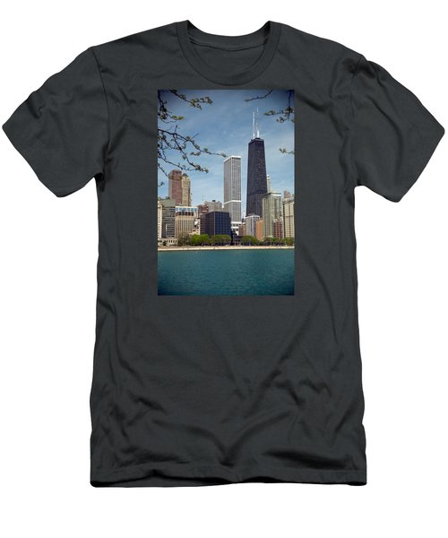 Chicago Spring Men's T-Shirt (Slim Fit) by Lawrence Boothby