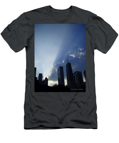 Chicago Sunset Men's T-Shirt (Athletic Fit)