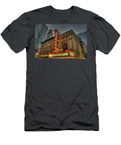 Chicago Theatre Hdr Men's T-Shirt (Athletic Fit)