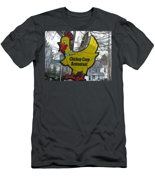 Chicken Coop Men's T-Shirt (Slim Fit) by Michael Krek