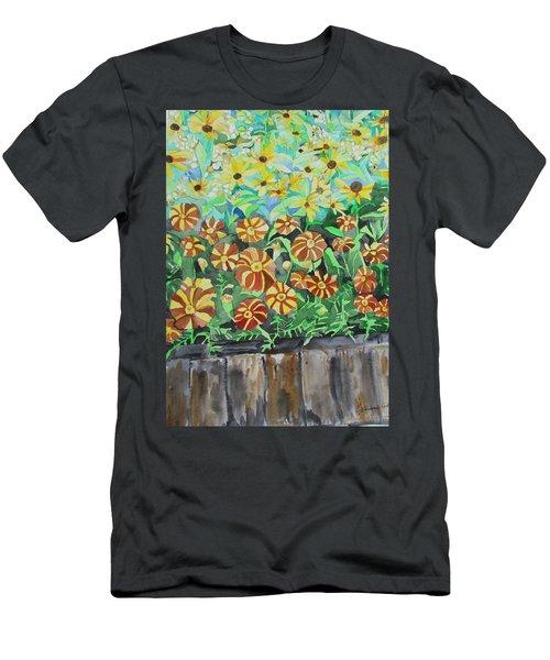 Childlike Flowers Men's T-Shirt (Athletic Fit)