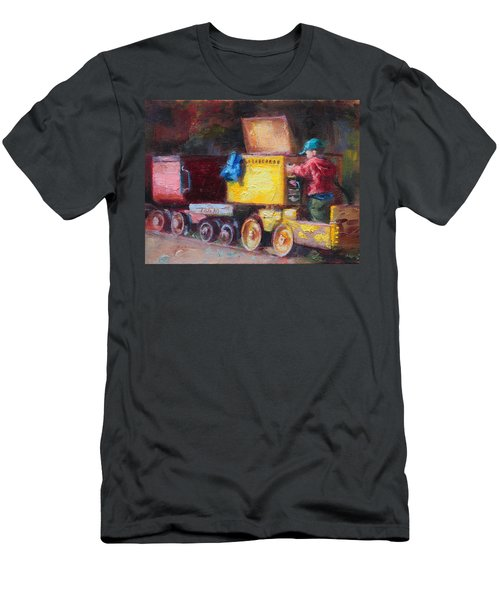 Child's Play - Gold Mine Train Men's T-Shirt (Athletic Fit)