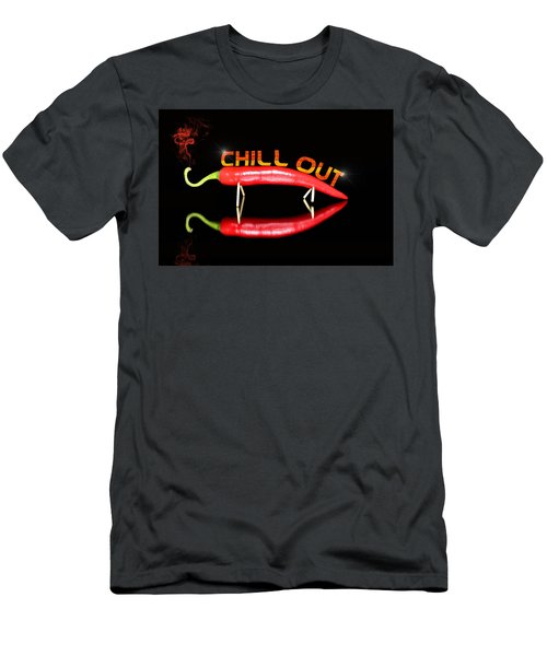 Chilli Pepper And Text Chill Out Men's T-Shirt (Athletic Fit)