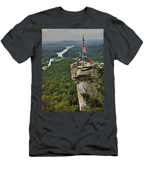 Men's T-Shirt (Slim Fit) featuring the photograph Chimney Rock Overlook by Alex Grichenko
