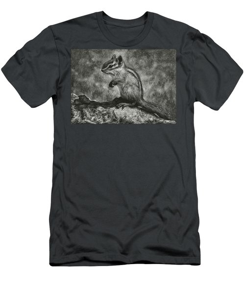 Chipmunk On The Rocks Men's T-Shirt (Athletic Fit)