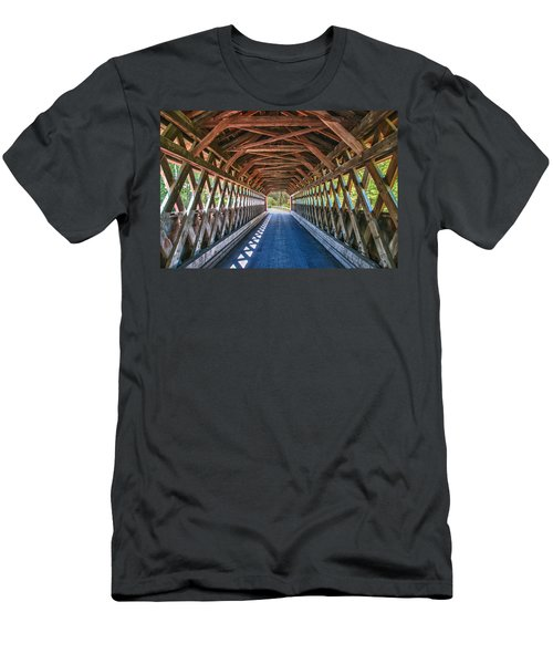 Chiselville Bridge Men's T-Shirt (Slim Fit) by Guy Whiteley