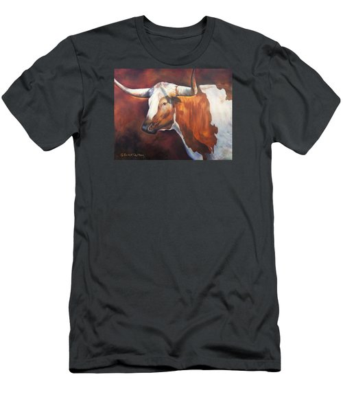 Chisholm Longhorn Men's T-Shirt (Slim Fit) by Karen Kennedy Chatham