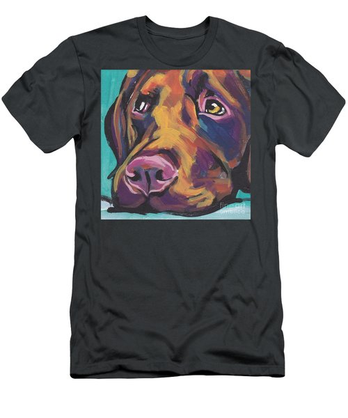 Choco Lab Love Men's T-Shirt (Athletic Fit)