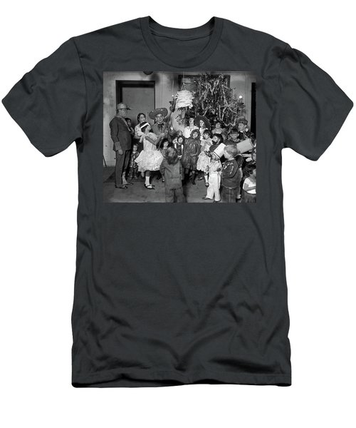 Men's T-Shirt (Slim Fit) featuring the photograph Christmas, 1925 by Granger