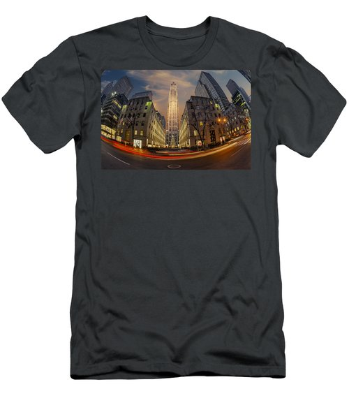 Christmas At Rockefeller Center Men's T-Shirt (Athletic Fit)