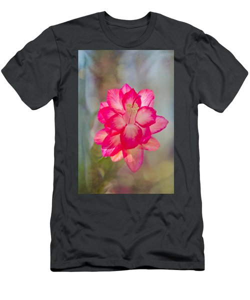 Christmas Cactus Bokeh Men's T-Shirt (Athletic Fit)
