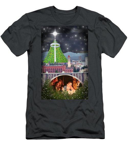 Christmas In Spokane Men's T-Shirt (Athletic Fit)