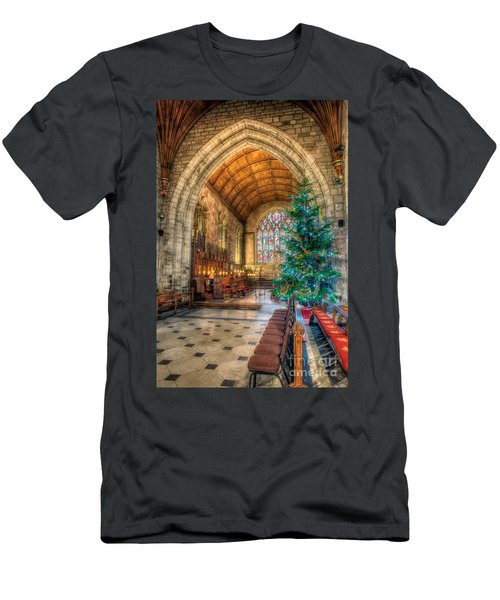 Christmas Tree Men's T-Shirt (Slim Fit) by Adrian Evans