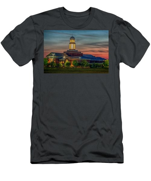 Christopher Newport University Trible Library At Sunset Men's T-Shirt (Athletic Fit)