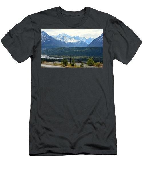 Chugach Mountains Men's T-Shirt (Athletic Fit)