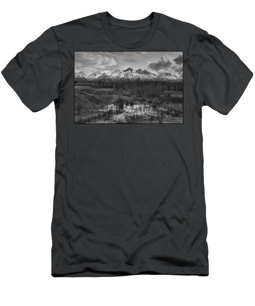 Chugach Mtn Range Men's T-Shirt (Athletic Fit)