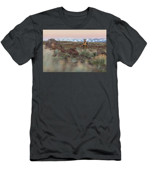 Chukar Hunting In Nevada Men's T-Shirt (Athletic Fit)