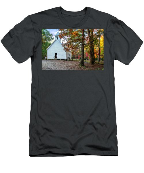 Church In Fall Men's T-Shirt (Athletic Fit)