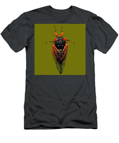 Cicada In Green Men's T-Shirt (Athletic Fit)