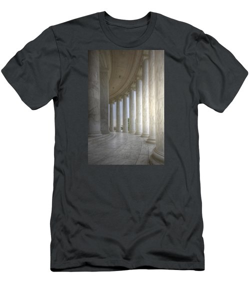 Circular Colonnade Of The Thomas Jefferson Memorial Men's T-Shirt (Slim Fit) by Shelley Neff