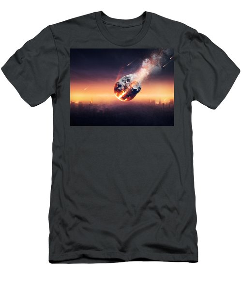 City Destroyed By Meteor Shower Men's T-Shirt (Athletic Fit)