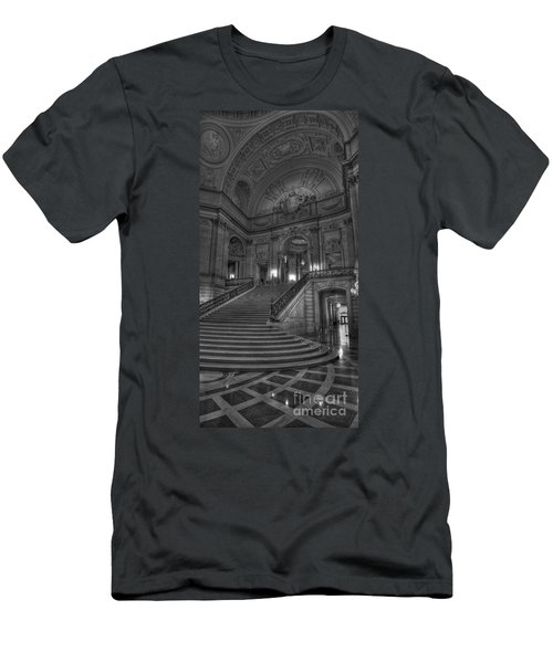 City Hall Grand Stairs Men's T-Shirt (Athletic Fit)
