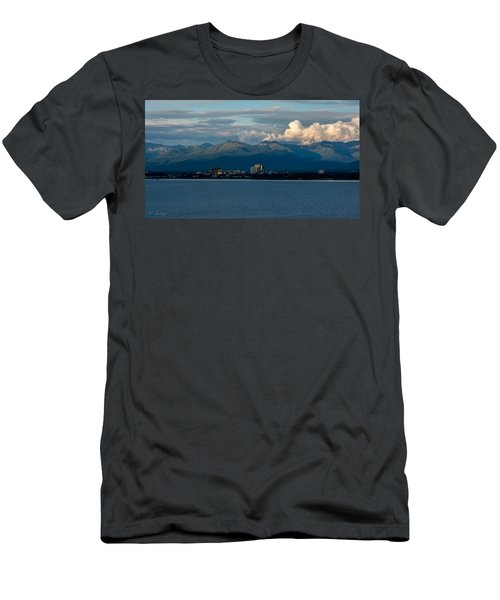 City Of Anchorage  Men's T-Shirt (Slim Fit) by Andrew Matwijec