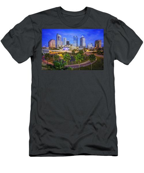 City Of Tampa At Dawn In Hdr Men's T-Shirt (Athletic Fit)