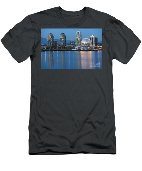 City Skyline -vancouver B.c. Men's T-Shirt (Athletic Fit)