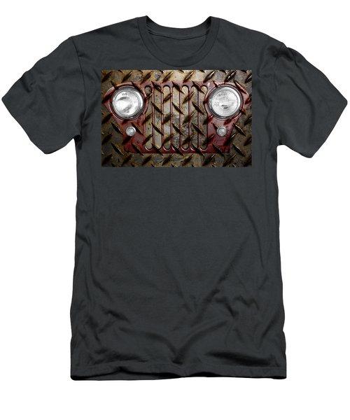 Civilian Jeep- Maroon Men's T-Shirt (Athletic Fit)