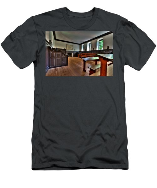 Men's T-Shirt (Slim Fit) featuring the photograph Classroom Wren Building by Jerry Gammon
