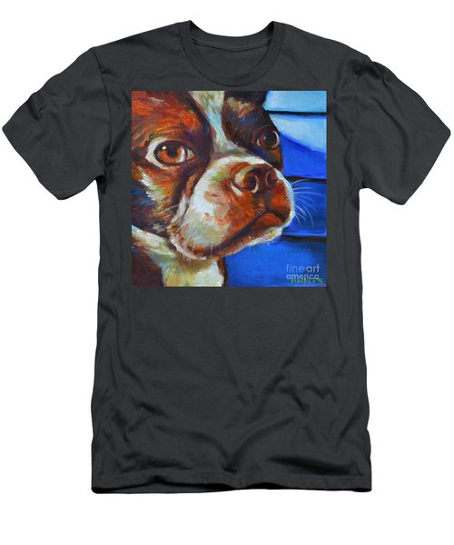 Men's T-Shirt (Slim Fit) featuring the painting Classy Hank by Robert Phelps