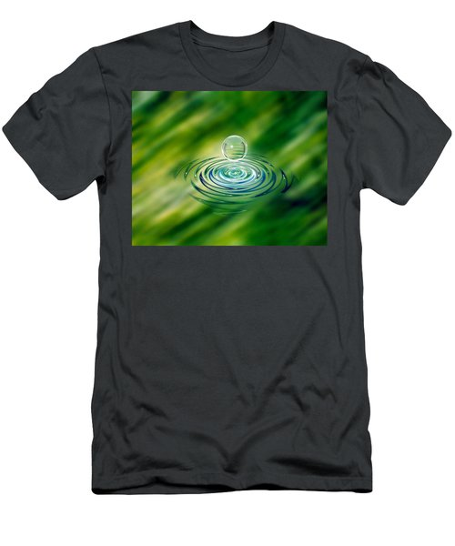 Clear Bubble Rising From Ripples Men's T-Shirt (Athletic Fit)