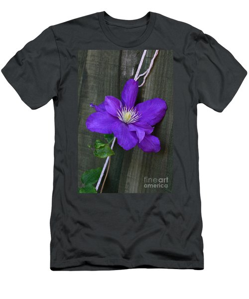 Clematis On A String Men's T-Shirt (Athletic Fit)